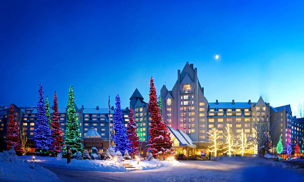 Festive season at Fairmont Chateau Whistler | Winter Vacations in Whistler during the holidays.