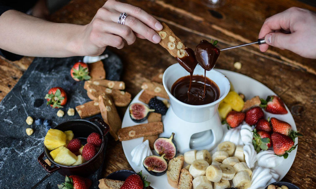 Chocolate Fondue at The Chalet