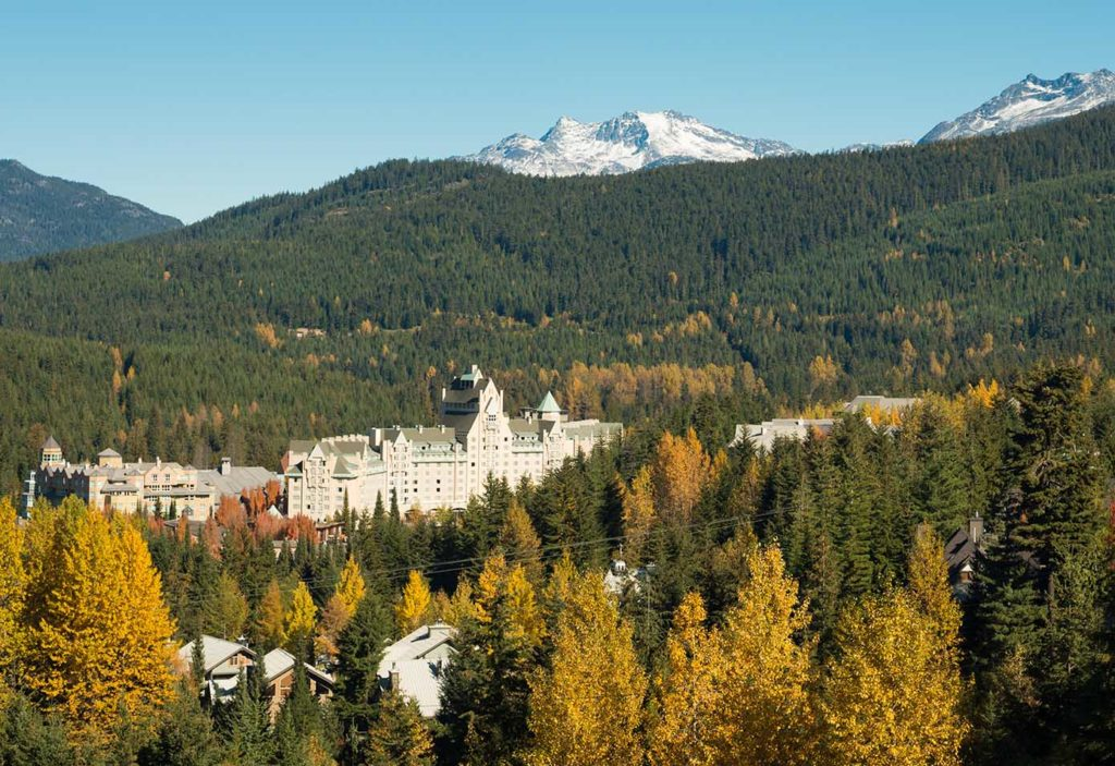 Fall getaways in Whistler | Luxury Accommodation at Fairmont Chateau Whistler | Image: Tourism Whistler, Mike Crane