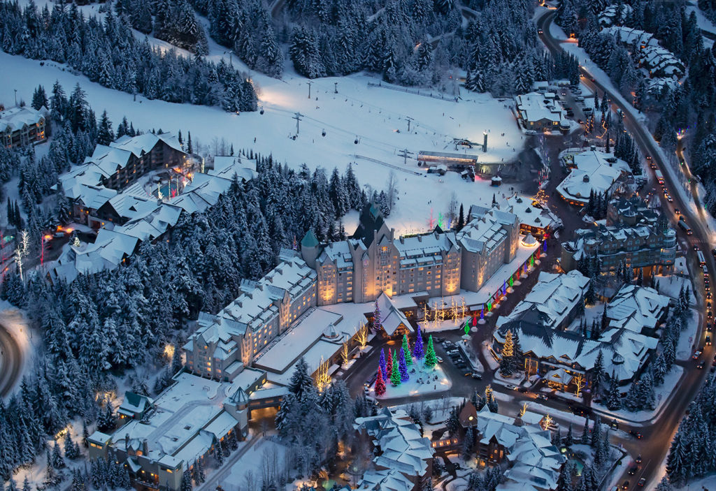 Fairmont Chateau Whistler winter aerial_Image: David McColm
