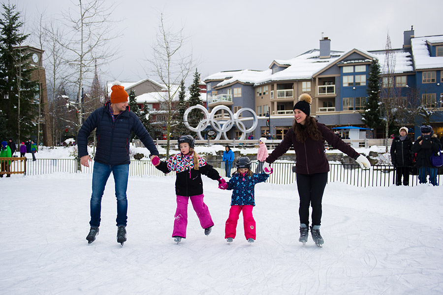 Ice Skating in Olympic Plaza | Photo: Tourism Whistler/Mike Crane