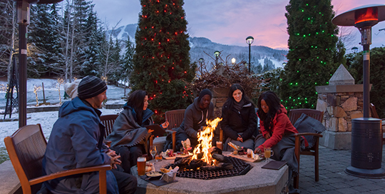Mallard patio winter | Image: Tourism Whistler, Destination Canada