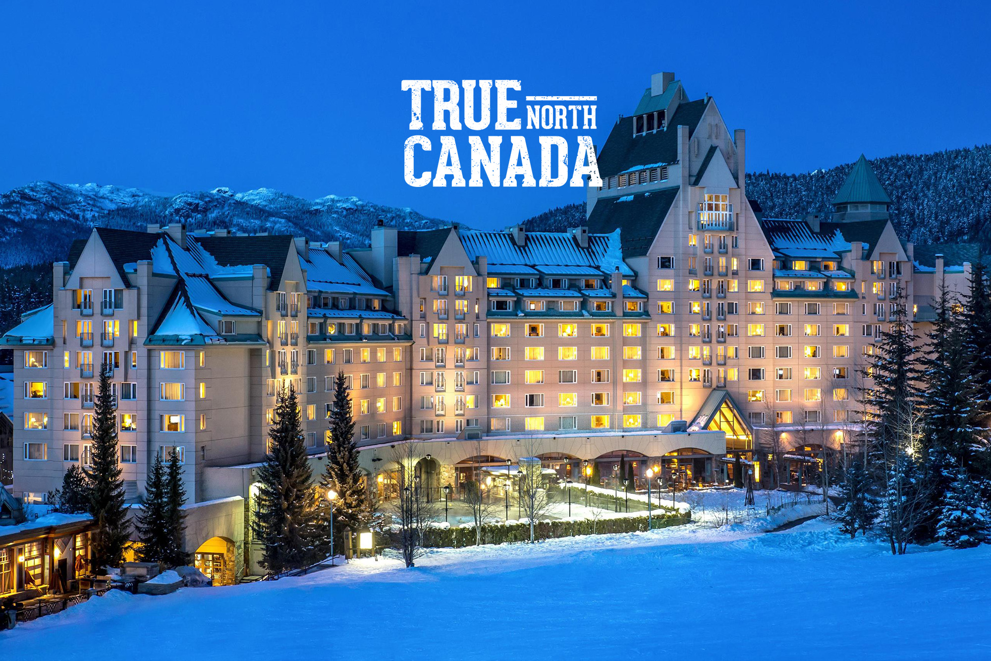 Winter Wonderland at night in Fairmont Chateau Whistler