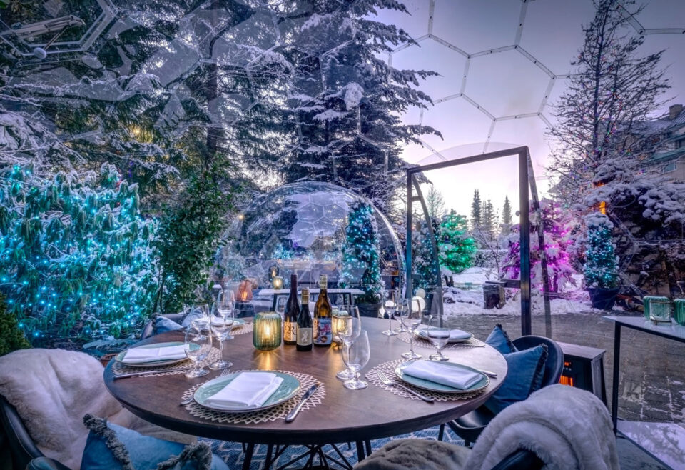 FAIRMONT CHATEAU WHISTLER WELCOMES OUTDOOR DINING DOMES