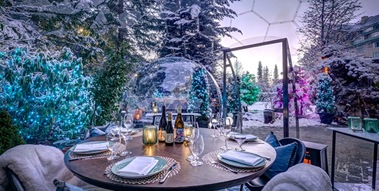 Snow Globes Dining Domes   Joern Rohde Photography