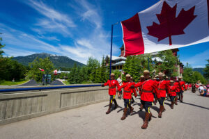 Canada Day parade in Whistler BC