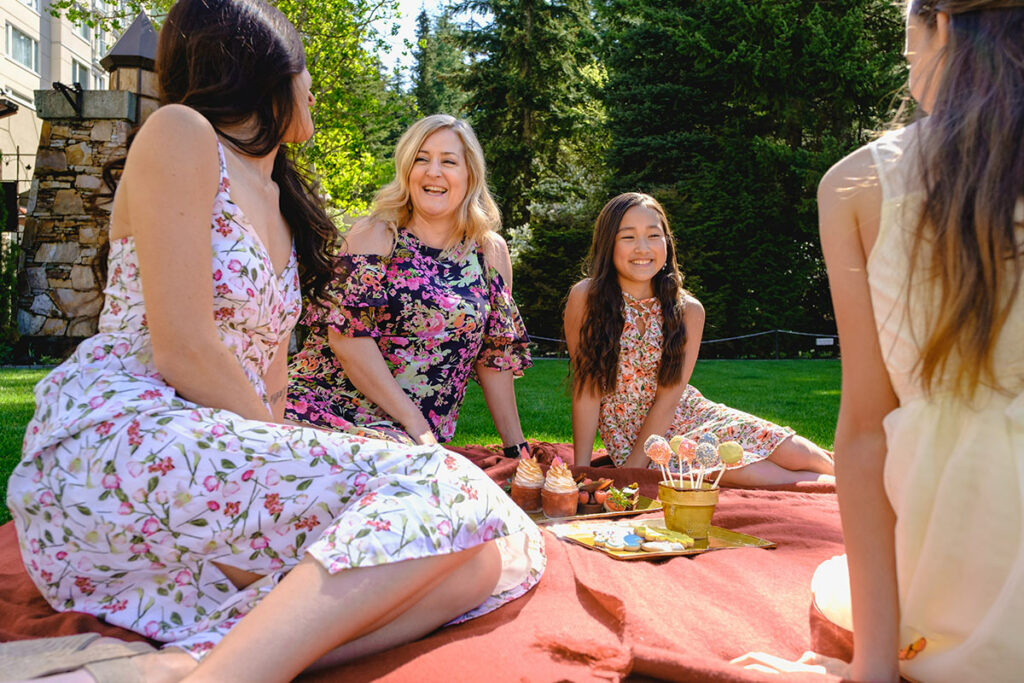 Picnic on the croquet lawn at Fairmont Chateau Whistler