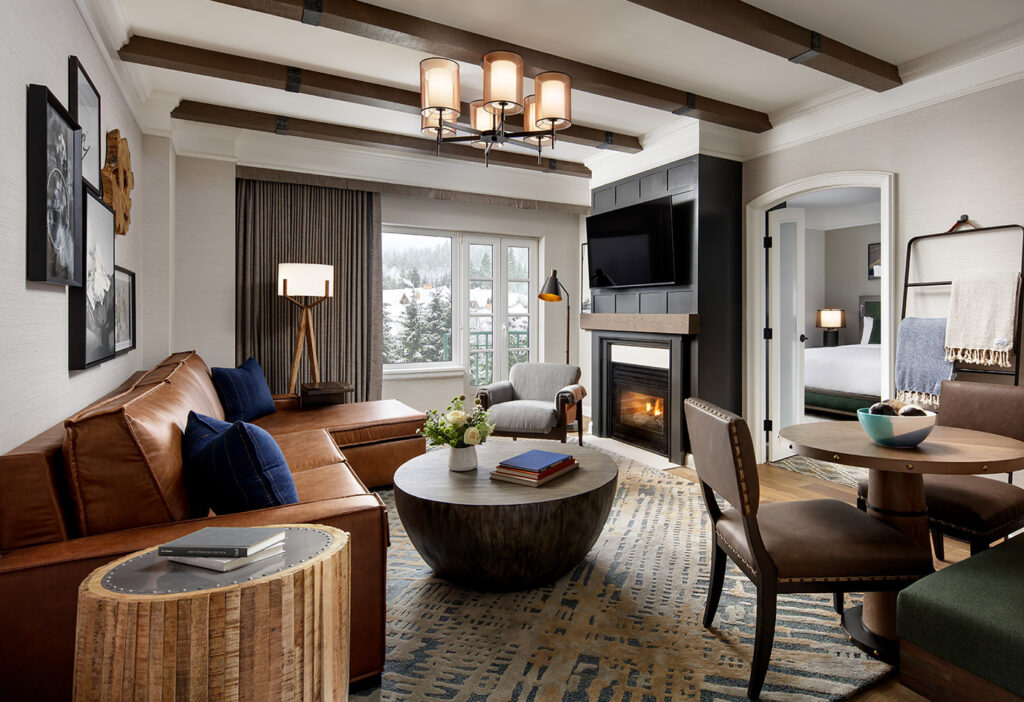 Fairmont gold suite with fireplace